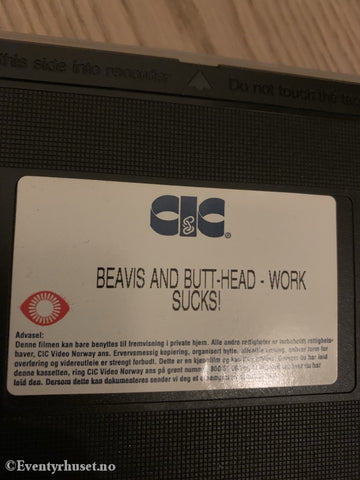 Beavis And Butt-Head. 1996. Work Sucks! Vhs. Vhs