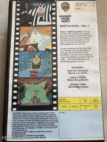 Beetlejuice Del 3. Vhs Big Box.