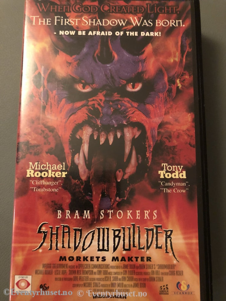 Bram Stokers Shadowbuilder. Mørkets Makt. 1998. Vhs. Vhs