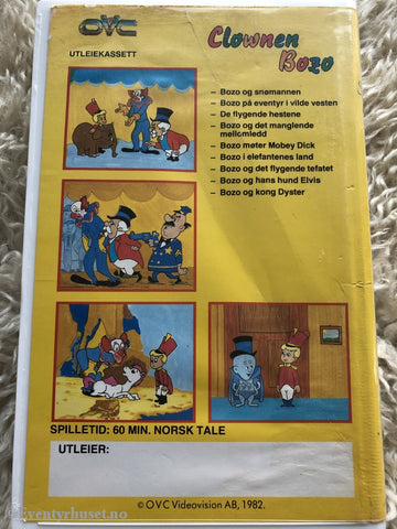 Clownen Bozo. Vol. 1. 1982. Vhs Big Box.