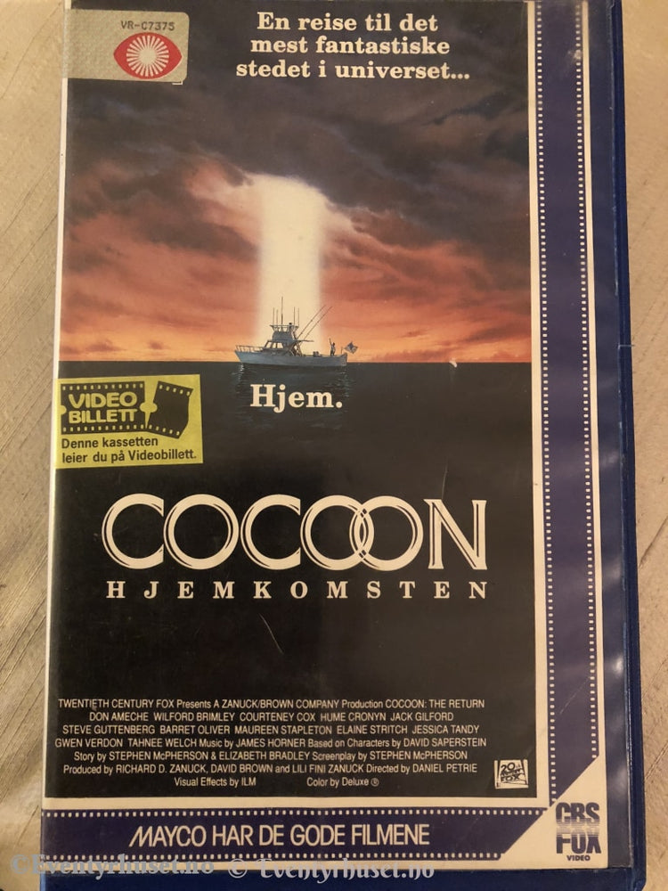 Cocoon - Hjemkomsten. Vhs Big Box.