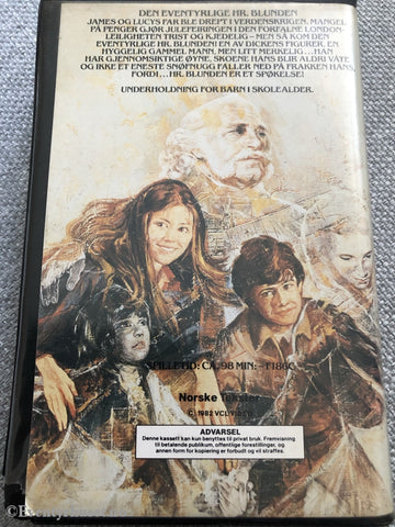Den Eventyrlige Hr. Blunden. 1982. Vhs Big Box.
