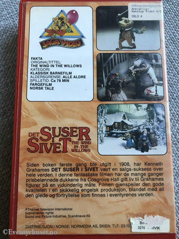 Det Suser I Sivet (The Wind In The Willows). Vhs Big Box.