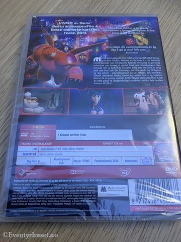 Disney Dvd. Big Hero 6. Ny I Plast! Dvd