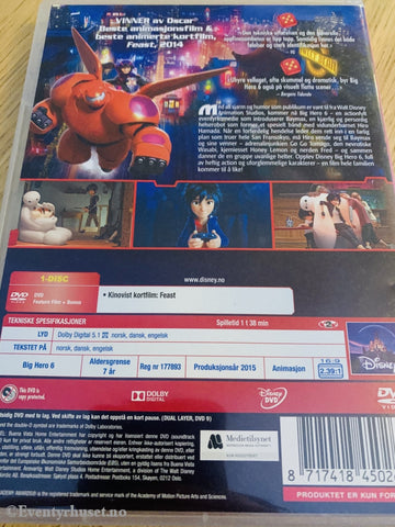 Disney Dvd Gullnummer 53. Big Hero 6.