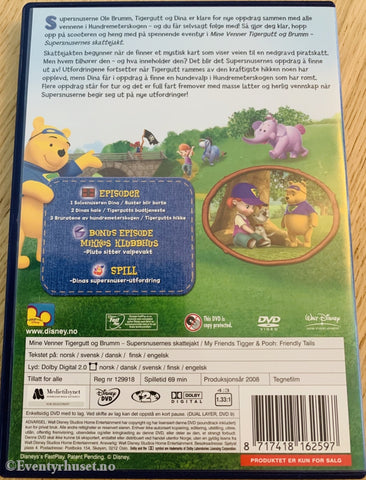 Disney Dvd. Mine Venner Tigergutt & Brumm. Vol. 1. Supersnusernes Skattejakt. 2008. Dvd