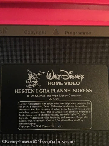 Disney Vhs Big Box. Hesten I Grå Flanneldress.