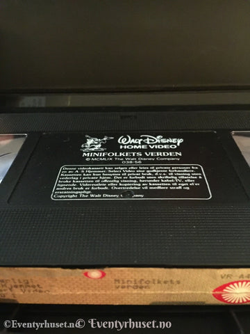 Disney Vhs Big Box. Minifolkets Verden.