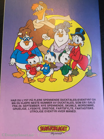 Ducktales 1992/09. Vf/nm. Tegneserieblad