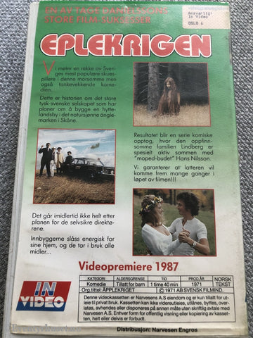 Eplekrigen. 1987. Vhs Big Box.