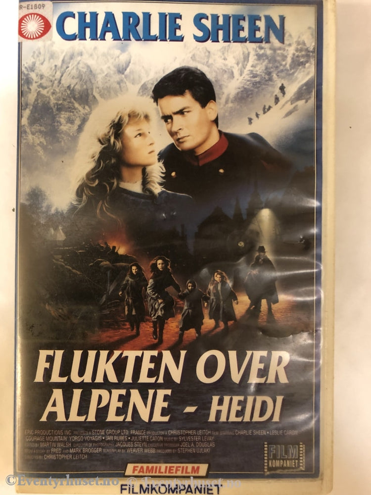 Flukten Over Alpene - Heidi. 1989. Vhs Big Box.
