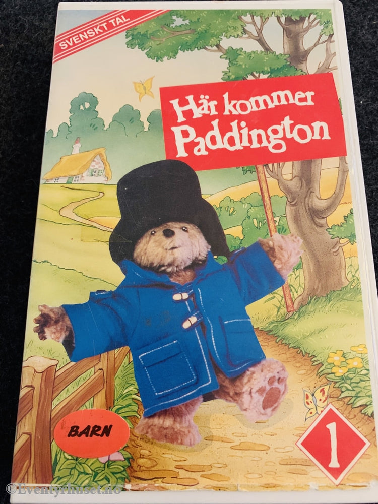 Här Kommer Paddington. Paddington Vol. 1. 1991. Svensk. Vhs Big Box.