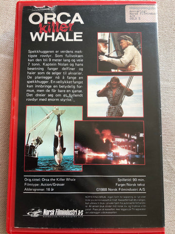 ORCA the killer whale. VHS Big Box.