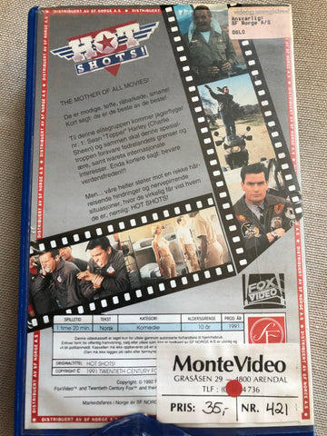Hot Shots. 1991. VHS Big Box.