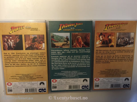 Indiana Jones Samleboks. Vhs. Vhs