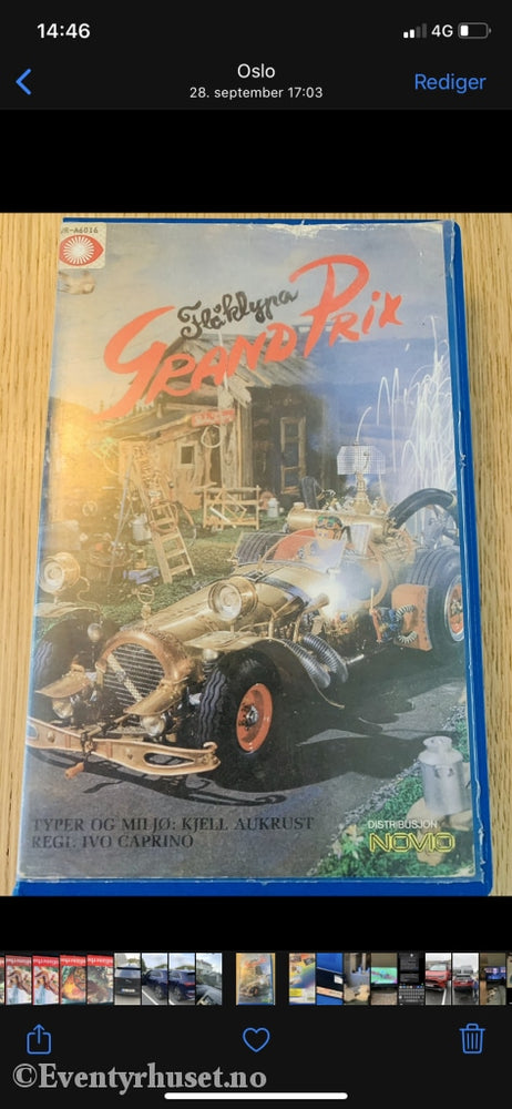 Ivo Caprino. Flåklypa Grand Prix. Vhs Big Box.