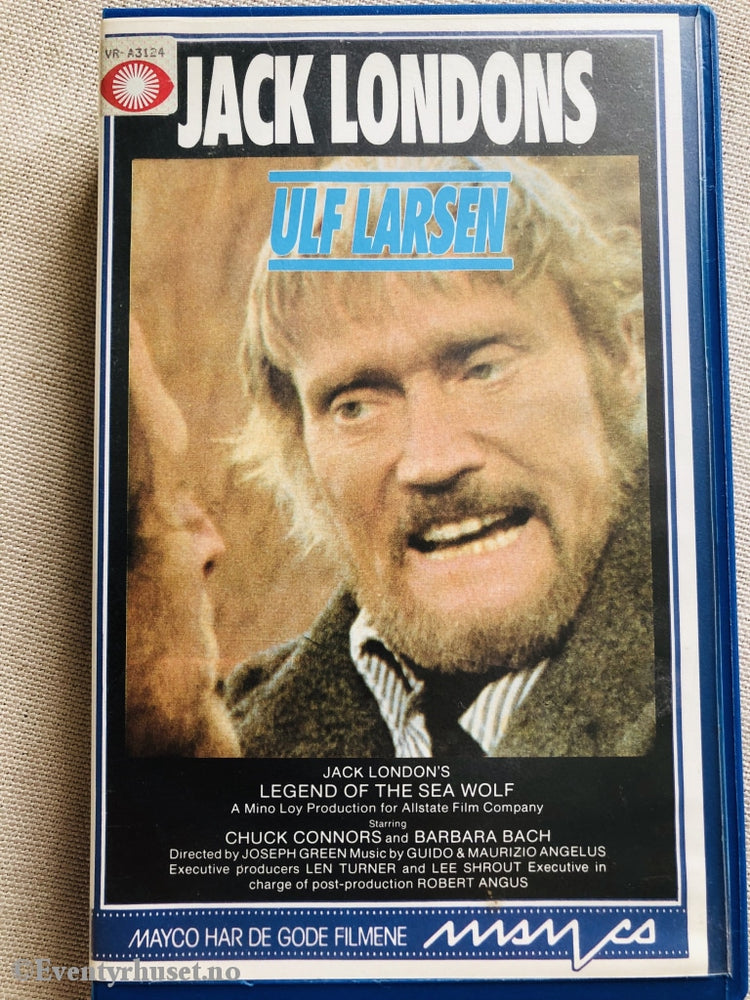 Jack Londons Ulf Larsen (The Legend Of The Sea Wolf). 1975. Vhs Big Box.