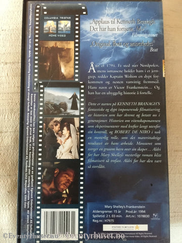 Mary Shelley´s Frankenstein. 1994. Vhs. Vhs