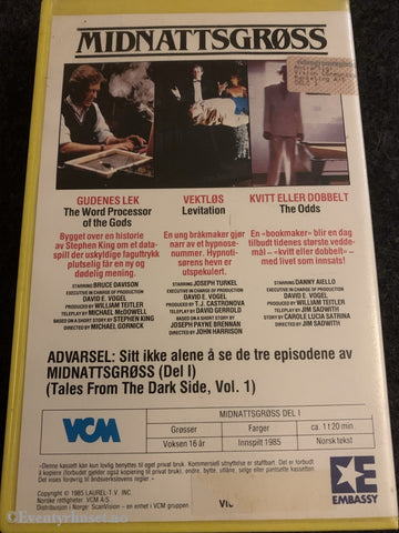 Midnattsgrøss (Tales From The Dark Side). 1985. Vhs Big Box.