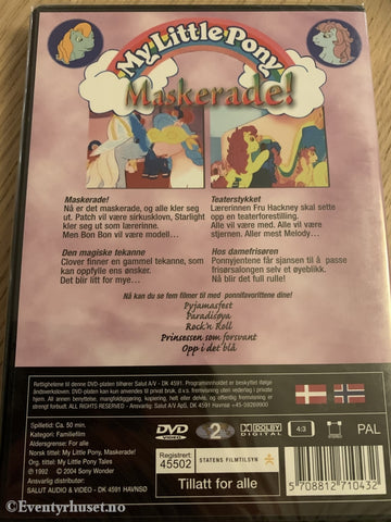 My Little Pony. Maskerade. Dvd Ny I Plast!