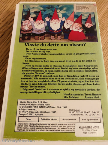 Nissen - David The Gnome. 1987. Vhs Big Box.