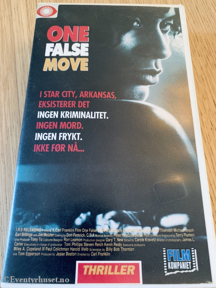 One False Move. 1991. Vhs. Vhs