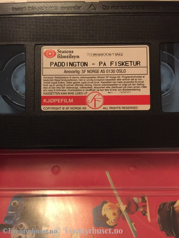 Paddington. 1998. På Fisketur. Vhs. Vhs