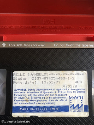 Pelle Svanseløs. 1983. Vhs Big Box.