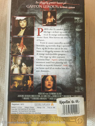 Phantom Of The Opera. 1999. Vhs. Vhs