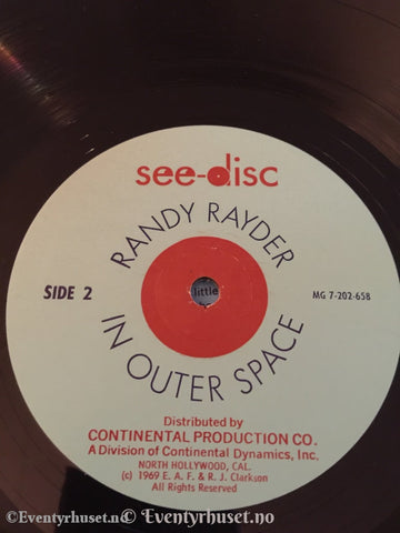 Randy Rayder In Outer Space. 1969. Lp. Lp Plate
