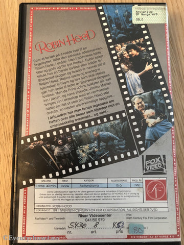 Robin Hood. 1991. Vhs Big Box.