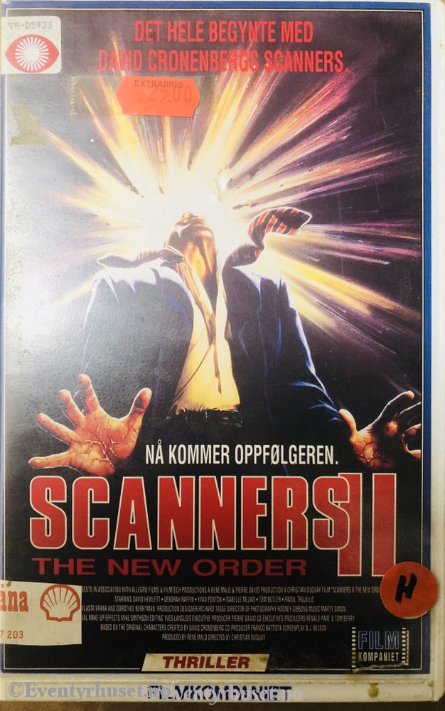 Scanners 2. 1990. Vhs Big Box.