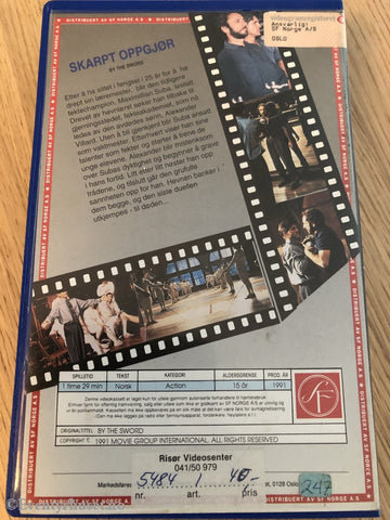 Skarpt Oppgjør (By The Sword). 1991. Vhs Big Box.