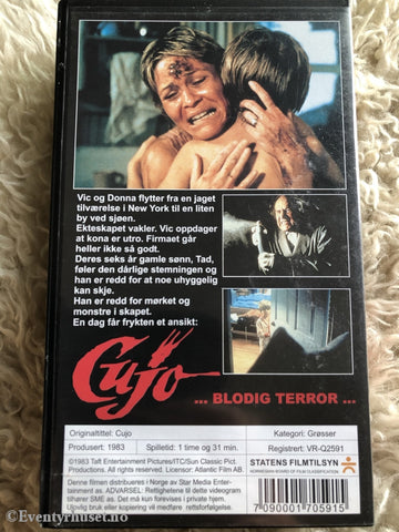 Stephen Kings Cujo. 1983. Vhs. Vhs