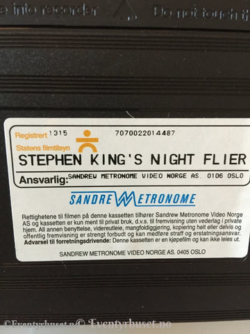 Stephen King´s Night Flier. 1997. Vhs. Vhs