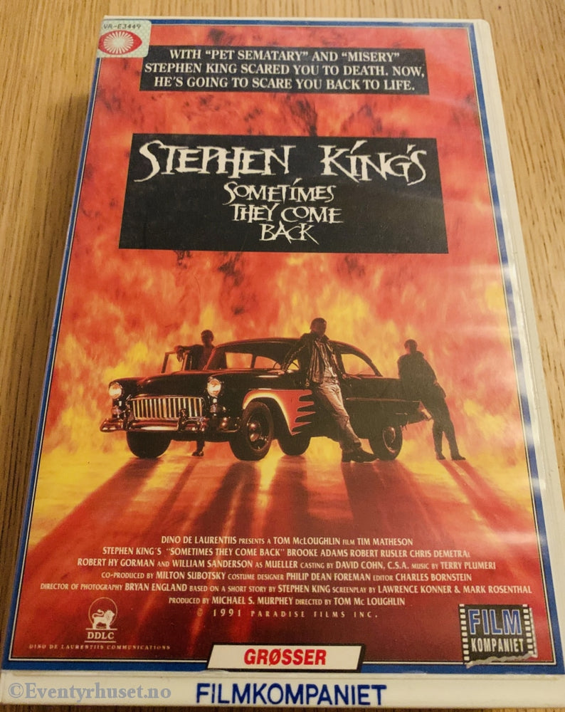 Stephen Kings Sometimes They Come Back. 1991. Vhs Big Box.