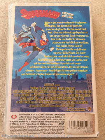 Supermann. Kryptons Siste Sønn. 1997. Vhs. Vhs
