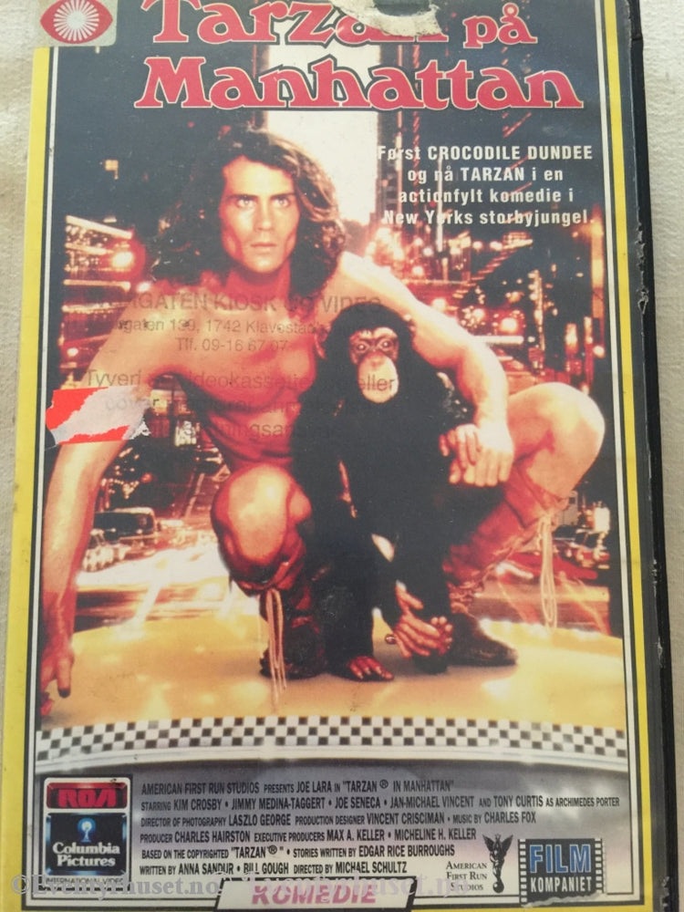 Tarzan På Manhattan. Vhs Big Box.