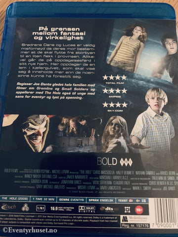 The Hole. Blu Ray Leiefilm. Blu-Ray Disc
