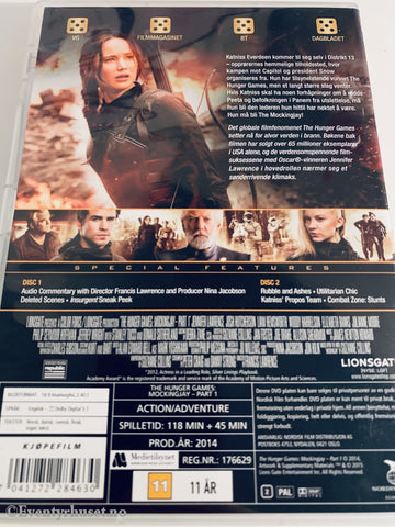 The Hunger Games - Mockingjay Part One. 2014. Dvd. Dvd