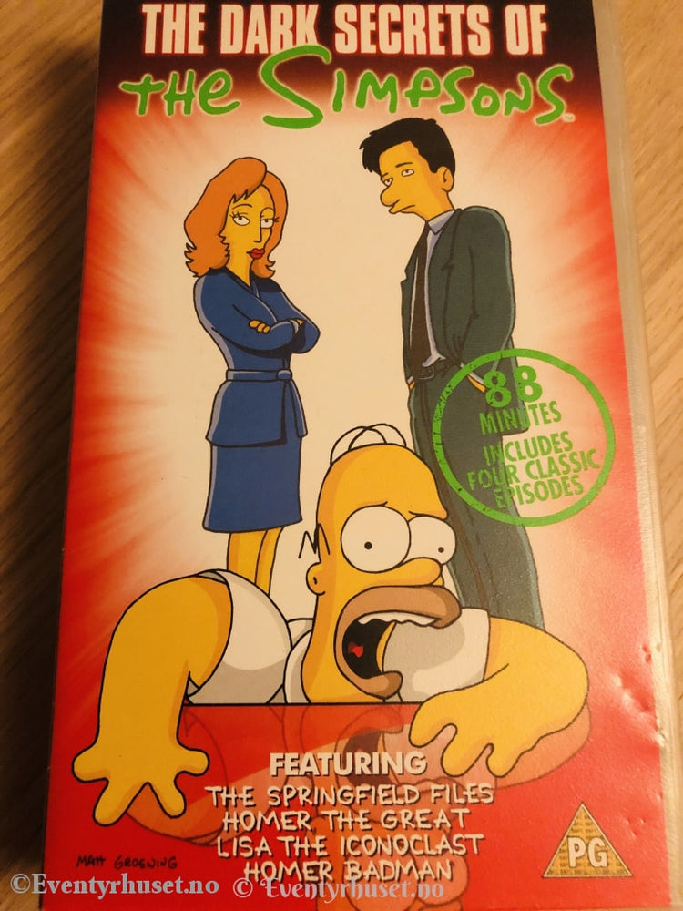 The Simpsons. Dark Secrets Of The 1996. Vhs. Engelsk. Vhs