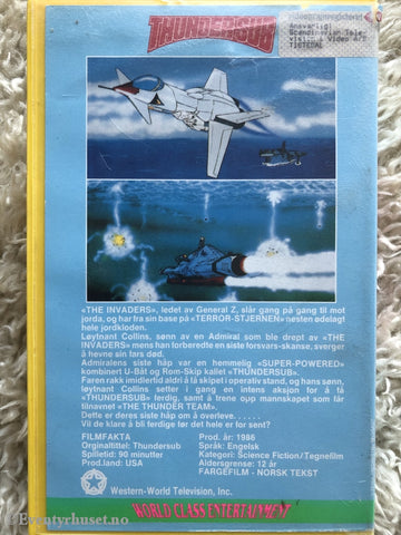 Thundersub. 1986. Vhs Big Box.
