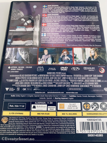 Tim Burtons Dark Shadows. 2012. Dvd. Dvd