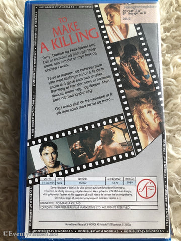 To Make A Killing. 1989. Vhs. Vhs
