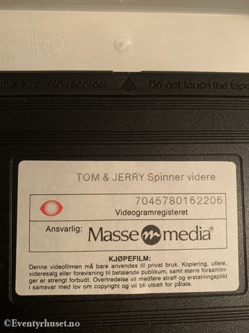 Tom & Jerry Spinner Videre. 1992. Vhs. Vhs