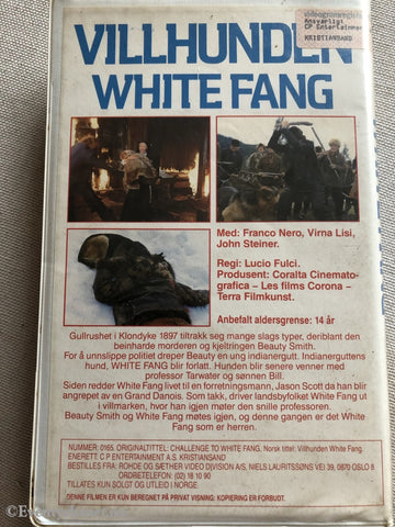 Villhunden White Fang. 1974. Vhs Big Box.