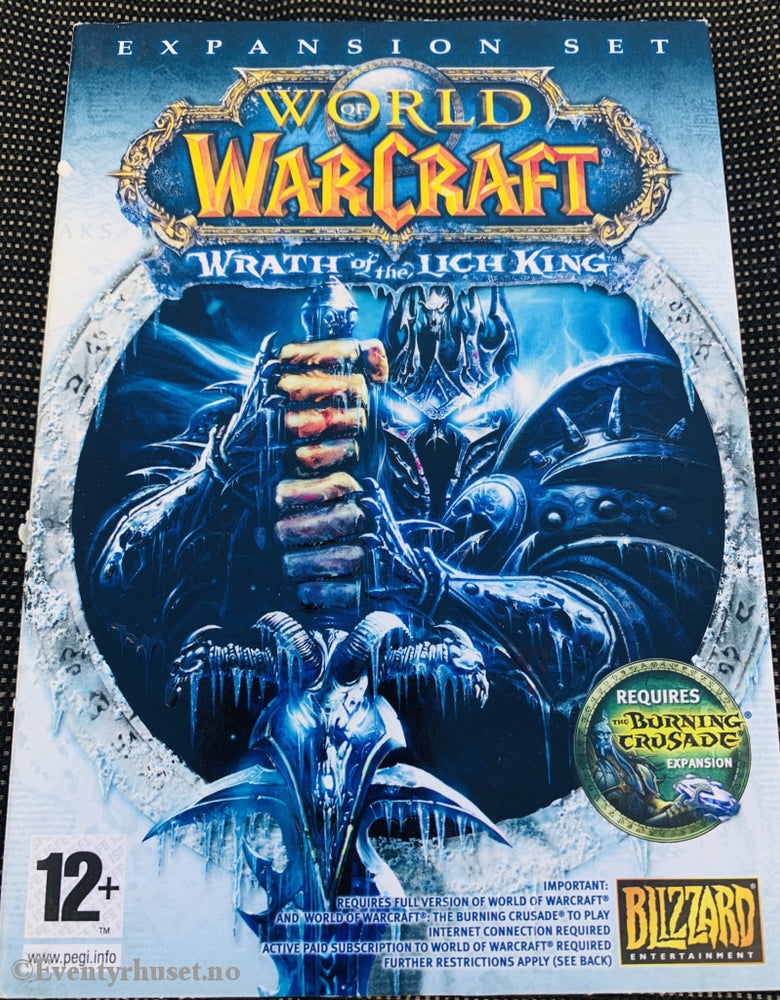 World Of Warcraft - Wrath The Lich King. Expansion Pack. Pc-Spill. Pc Spill