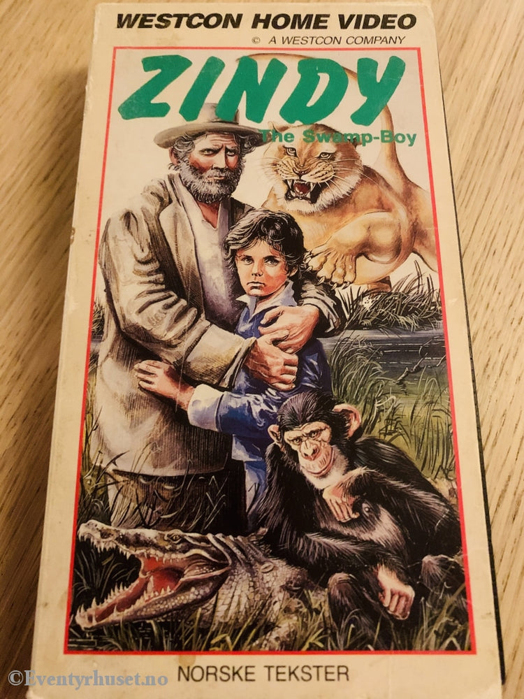 Zindy - The Swamp Boy. Vhs Slipcase.