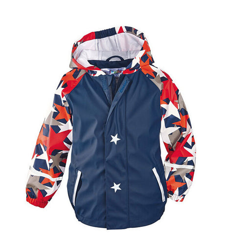 boy's red white and blue Fall jacket