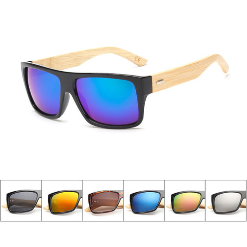 Bamboo Frame Mirror Wood Frame Sunglasses UV 400